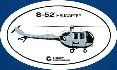 S-52 Sikorsky Aircraft Helicopter Oval Sticker