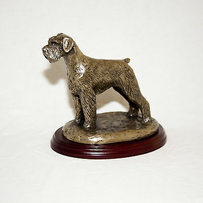 GIANT SCHNAUZER  Bronze Figurine. Hand made in England. Ideal gift.
