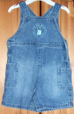 George Trouble Is My Middle Name Boys Denim Baby All In One Denim 3 - 6 Months