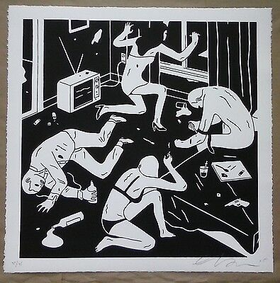 Cleon Peterson  Junky White 31/95 Numbered Signed