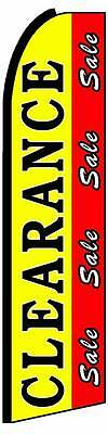 Clearance Sale Red Yellow Flutter Swooper Flag Advertising Sign 3' Wide Banner