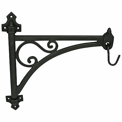 Swivel Arm Wall Bracket Cast Iron Vintage Style Plants Wind Chime Hook Hanging