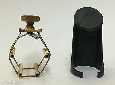 Francois Louis Ultimate Small Tenor Saxophone Ligature with Cap in Gold Finish