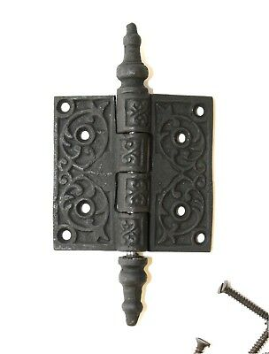 "Victorian Steeple Tip Hinge 2.5"" Cast Iron Replica Antique Hardware"