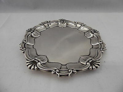 Antique English Sterling Silver Art Noveau Tray Calling Cards