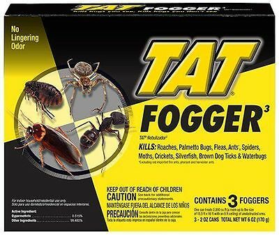 TAT 31100 Concentrated Fogger, 3-Count ~ No Lingering Odor ~ CONTAINS 3 FOGGERS