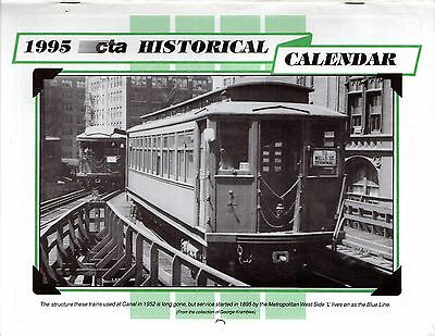 1995 Chicago Rapid Transit Authority Motor Coach Bus Streetcar Elevated Subway