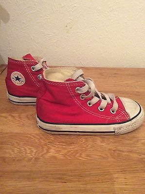 Childrens Red Converse. Size 6.