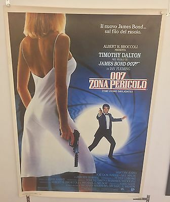 The Living Daylights - James Bond - Original Italian One Sheet Movie Poster
