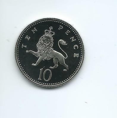 1996 Royal Mint Proof  10p taken from Royal Mint proof Set