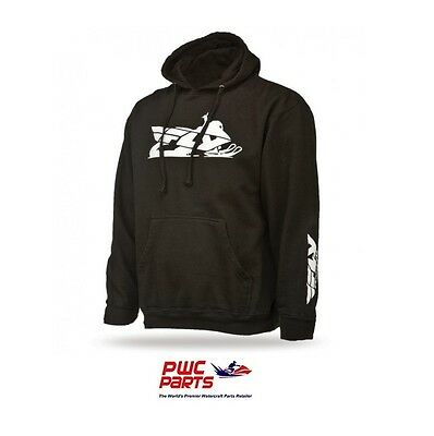 FLY Racing Primary Hoody 354-0160L Black w/ FLY RACING Logo on Front and Back