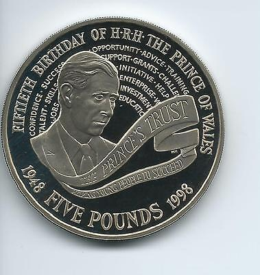 1998 Royal Mint Proof £5 Charle's Birthday