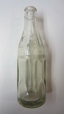 Vintage Heavy Glass Coca-Cola Soda Water Bottle with Embossed Stars, 6 oz.