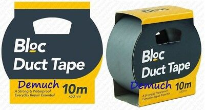 New 10M Heavy Duty DUCT TAPE Strong Waterproof PVC Gaffa Gaffer DuckTape UK ✔