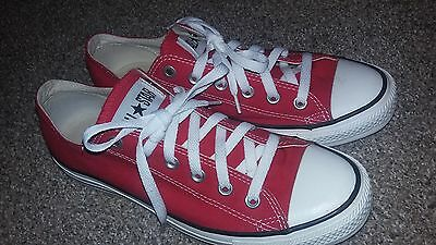 Red Low Top Converse Sneaker All Star Women's size 10 Men's size 8