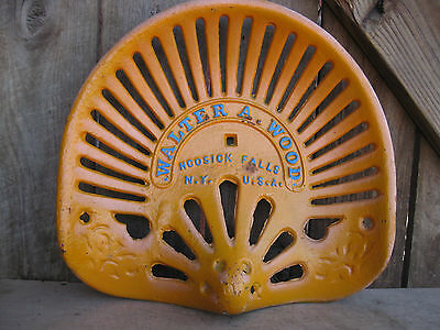 """Vintage Cast Iron """"Walter A. Wood"""" Farm Equipment/Tractor Seat"""