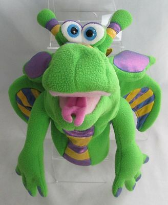 """Melissa and Doug 13"""" Plush SMOULDER Green Dragon HAND PUPPET No Rod As Shown"""