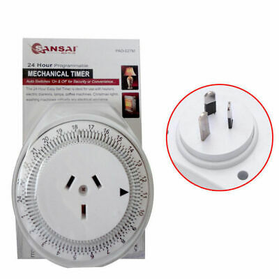 AU 24h Analogue Mechanical Timer Switch Automation for Powerpoint Outlet Devices