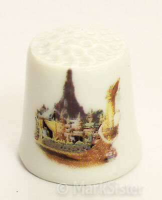Finger Ceramic Sewing Thimble Temple Thailand - TH016