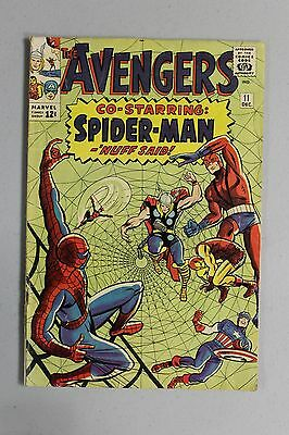 Avengers #11 1964 Silver Age Early Spider-man Crossover Key Book Kang Thor Wasp