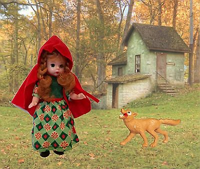 "McDonalds 2002 Madame Alexander Doll ""Little Red Riding Hood""; includes wolf"