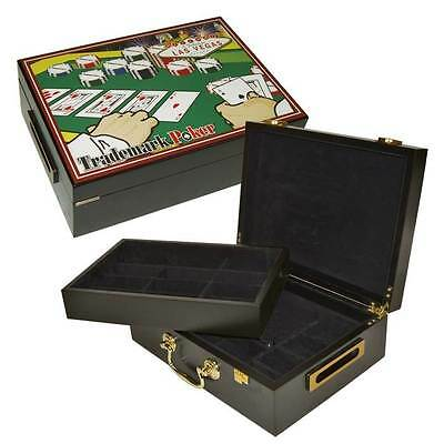 500-Capacity Poker Chip Case w Full Color High Quality Graphics [ID 70190]