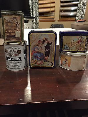 Set Of 5 Antique Canisters