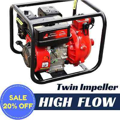 WATER TRANSFER PUMP Fire Fighting TWIN IMPELLER High Pressure 27,000L/hour