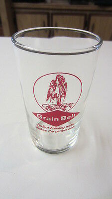 Vintage Grain Belt, Perfect Brewing Water Makes the Perfect Beer Glass, 4 1/4 in