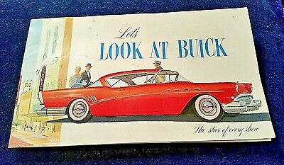 "1957 BUICK brochure, ""Let's Look at Buick, the star of every show"" 20 page color"