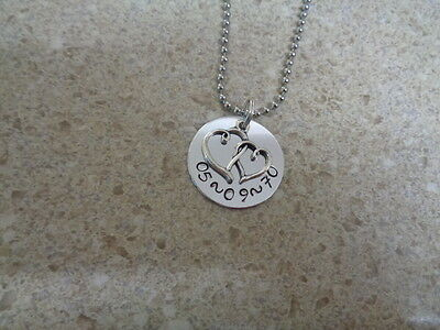 Hand Stamped Wedding/Anniversary Date Necklace Any Date