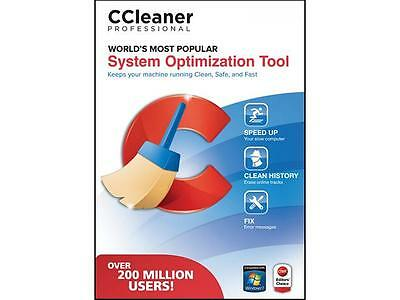 Piriform Ccleaner Professional -1 PC . Brand NEW , Factory Sealed