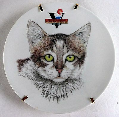 Porcelaine De Limoges Special Animal Wildlife Cat Plate Veterinary Conference Le