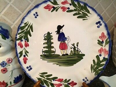 "Blue Ridge Pottery FRENCH PEASANT DINNER PLATE 9-1/4"" 1920's-1957"