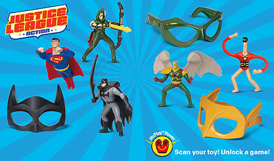 McDonald's Happy Meal Toys All 8 Full Set 2016 Justice League Action Boy