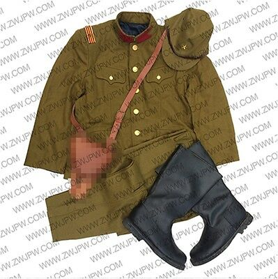 WW2 Japanese Army Zhao Wu General Uniform Sets Jacket&Pants Hat