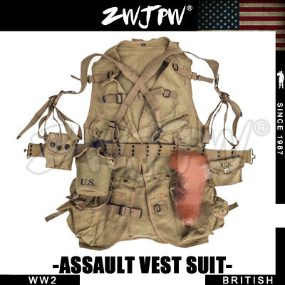 1WW2 U.S. Army Normandy Hacksaw Ridge Tactical Vest Equipment Combination