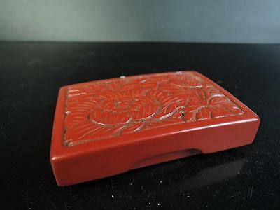 E6644: Japanese Wooden Lacquer ware CONTAINER for article Accessories Case Box