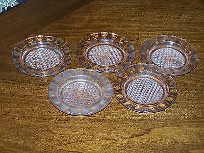 Jeanette Glass Co. Pink Coasters homespun Pattern  (5)