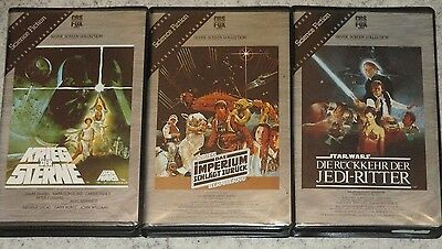 Star Wars 4, 5, 6 - VHS/SciFi/Harrison Ford/Mark Hamill/Carrie Fisher/Urfassung