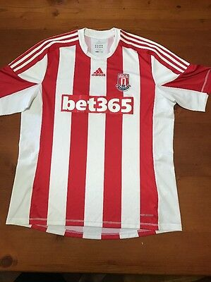 Stoke City Adidas Football Official Merchandise Supporters Shirt Xl A1 Condition