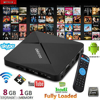 Dolamee D5 Smart TV BOX PC 4K x 2K H.265 Android 5.1 Quad Core WiFi 8GB HDMI EU