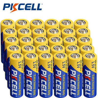 30pcs 1.5V  Volt  2A Double A AA R6P Super Heavy Duty Batteries PKCELL