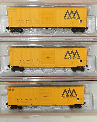 3 x Fox Valley N Scale Vermont 51' Boxcars