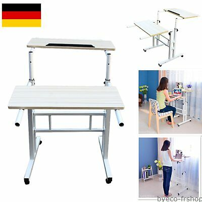 homfa laptoptisch beistelltisch pflegetisch betttisch rolltisch computertisch pc eur 21 99. Black Bedroom Furniture Sets. Home Design Ideas