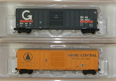 2 x Fox Valley N Scale Maine Central 51' Boxcars
