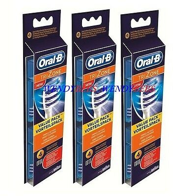 Original Braun Oral B Trizone Tri Zone Replacement Toothbrush Brush Heads Eb30-4