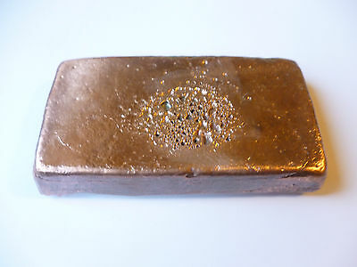 Sheffield Pure Copper Ingot~ Hand Poured~ 705 Grams~Metal Work~Crafts~Jewellery