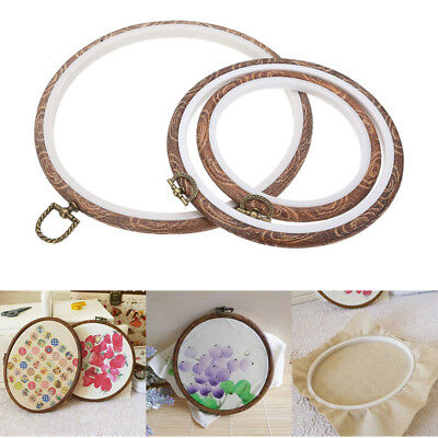 "DIY Round Embroidery Cross Stitch Ring Hoop Frame Craft Sewing Tools 4"" to 10"""