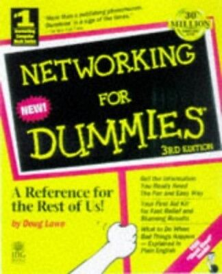 Networking for Dummies, Doug Lowe Paperback Book The Cheap Fast Free Post